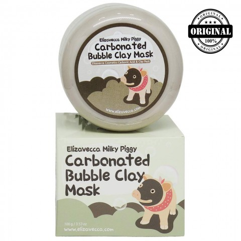 ЛЗ Milky Piggy Маска для лица глиняно-пузырьковая Carbonated Bubble Clay Mask 100гр