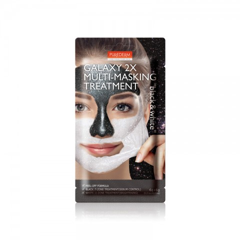 Purederm Кислородная маска для лица Multi Mask Black & White 2*6г