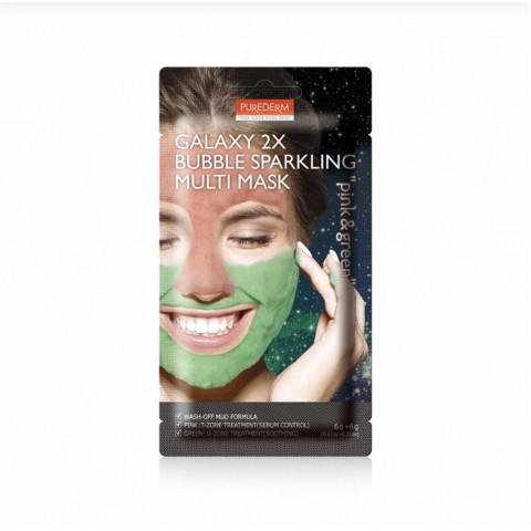 Purederm Кислородная маска для лица Multi Mask Pink & Green 2*6г