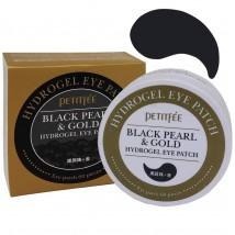 Патчи Petitfee Black Pearl & Gold Hydrogel Eye (Черные)