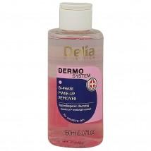Delia Dermo System Двухфазная Жидкость для Снятия Макияжа, 150 ьд
