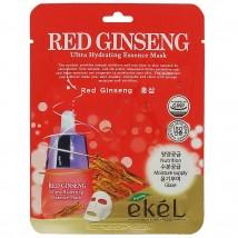 Ekel Тканевая Маска Красный Женьшень Red Ginseng